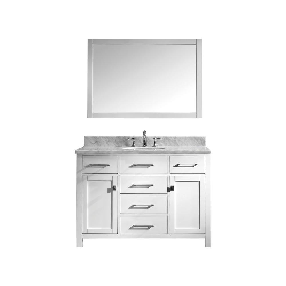 Virtu Usa Caroline 48 In W X 36 In H Vanity With Marble Vanity Top