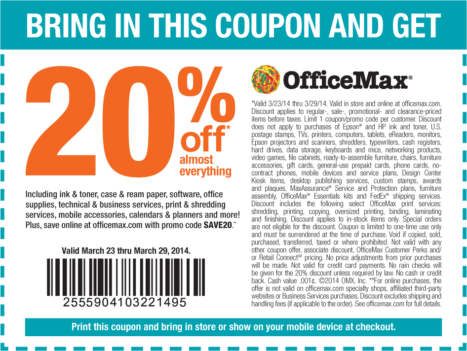Pinned March 24th 20 Off At Officemax Or Online Via Promo Code Save20 Coupon Via The Coupons App Coupon Apps Promo Codes Online Coupons
