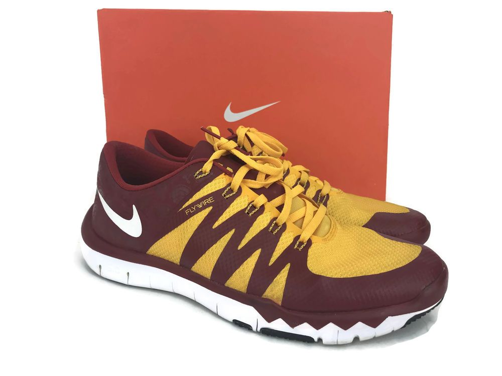 ac7dce74bfe99 USC Trojans NCAA Nike Free Trainer 5.0 V6 AMP Fly Wire Men s Size 11 ...