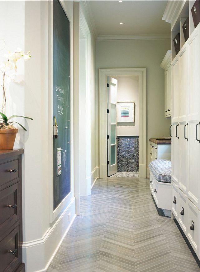 Mudroom Anne Sacks Tile Floor Home Style Mudroom