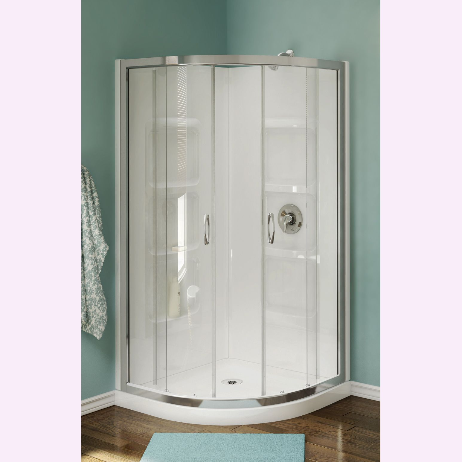 Finish your bathroom in style with the Nevada neo-round shower stall ...