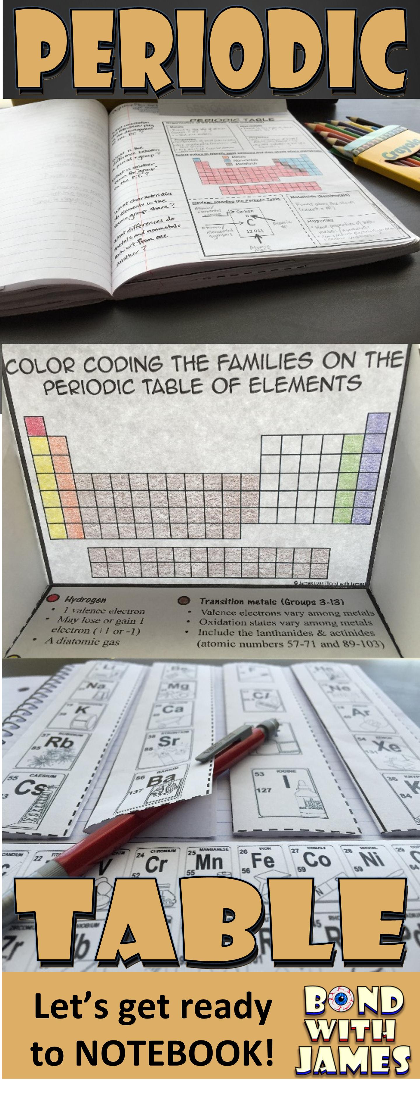 Periodic Table For Chemistry Interactive Notebooks And