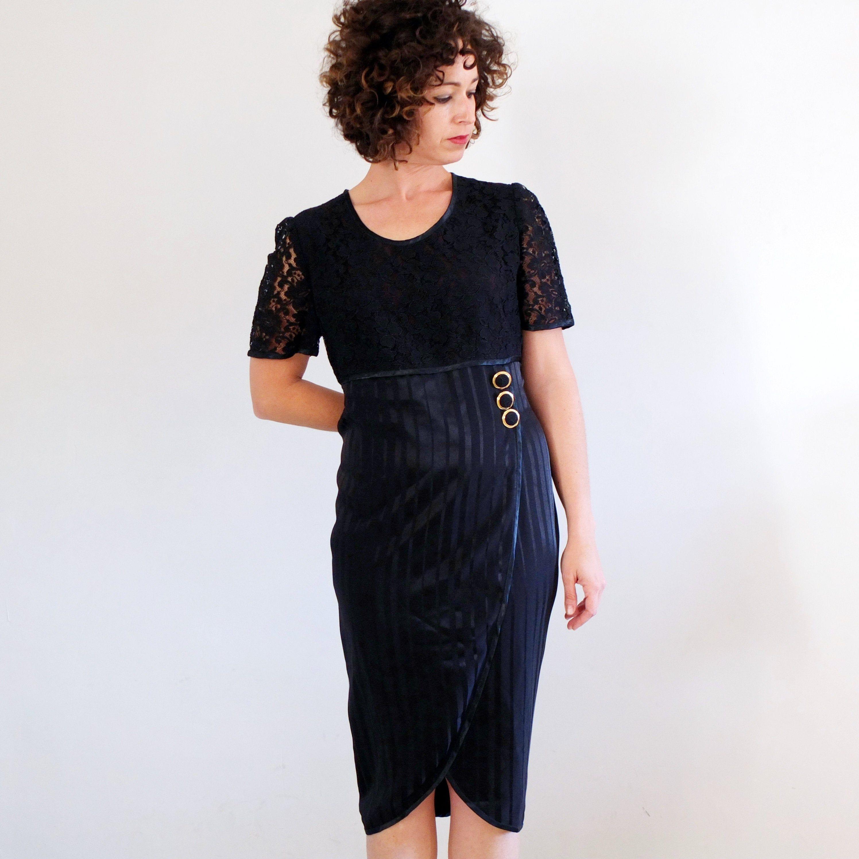 Vintage Black Lace Evening Gown Vintage 80s Cocktail Prom Lace Dress Vintage 80s Party El Lace Dress Vintage Cocktail Evening Dresses Black Lace Evening Gown [ 2992 x 2992 Pixel ]
