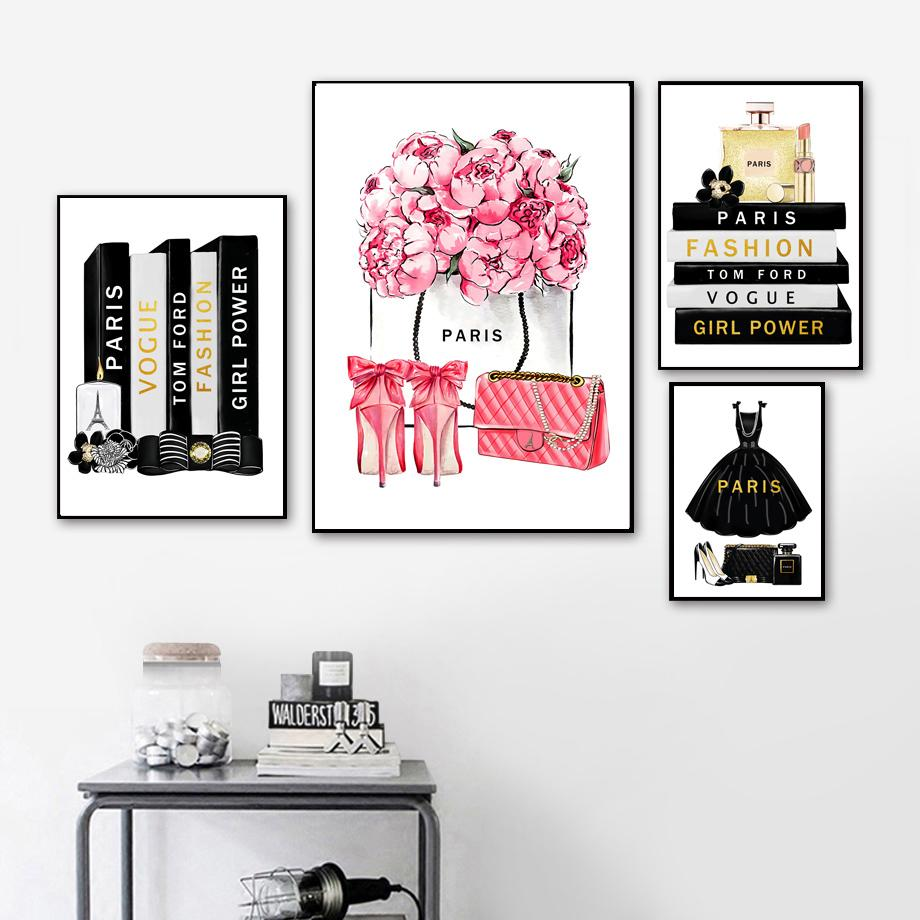 Paris Fashion Book Wall Art Perfume
