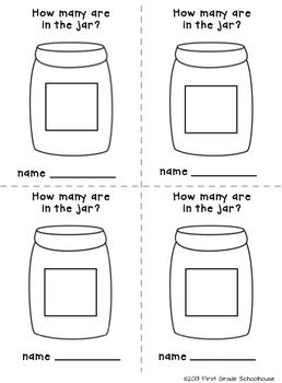 Estimation Jar Printables Classroom Freebies Kindergarten Math Math Centers