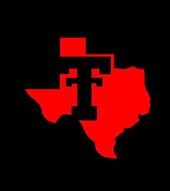 Texas Tech Double T State Outline Vinyl Decals Tech