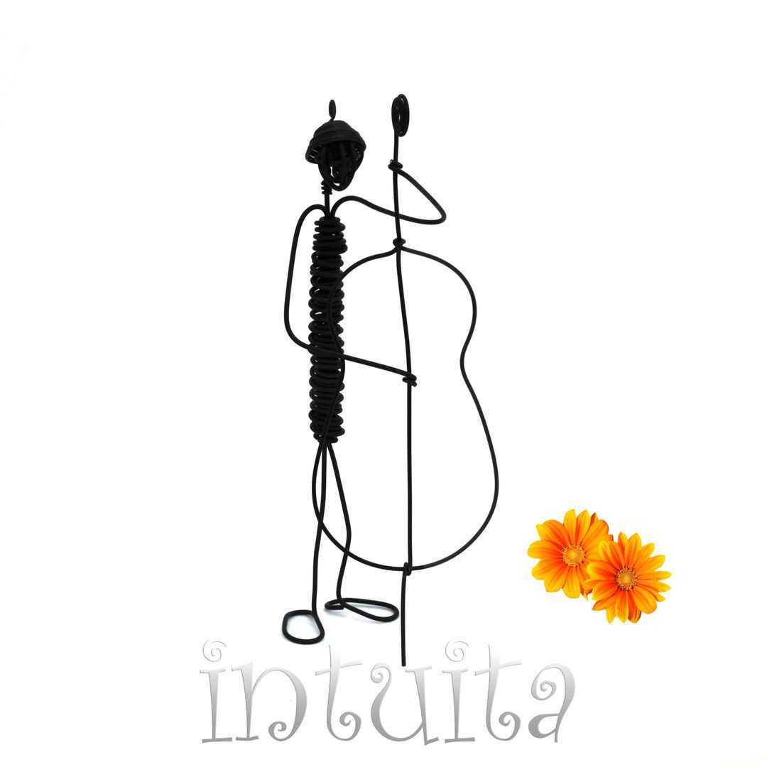 Buy online unique, handmade bassist wire figures 11.2 USD | Home ...