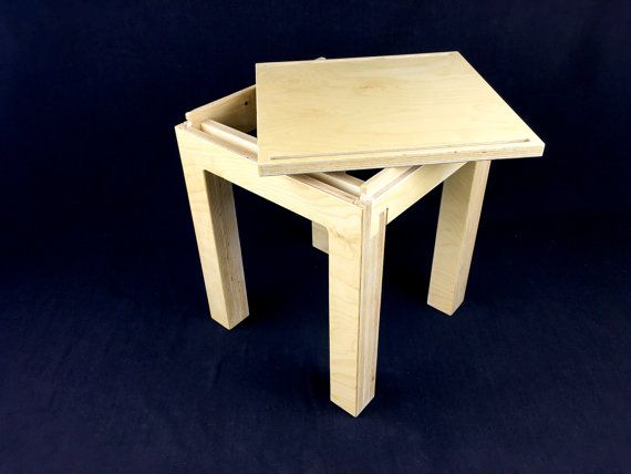 Aparte Side Table.Slotable Birch Plywood Stool Or Side Table Finished In A