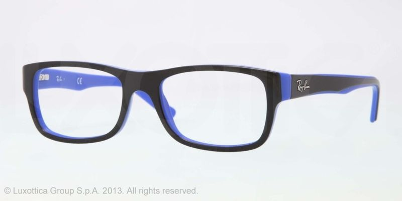 Ray-Ban RX5268 Eyeglasses 5179 Black/blue Frame Size 50-19-135 | MY ...
