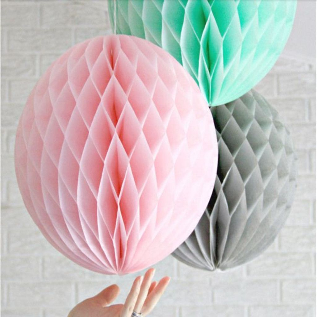Tissue Papers Balls Lantern Decoration Christmas