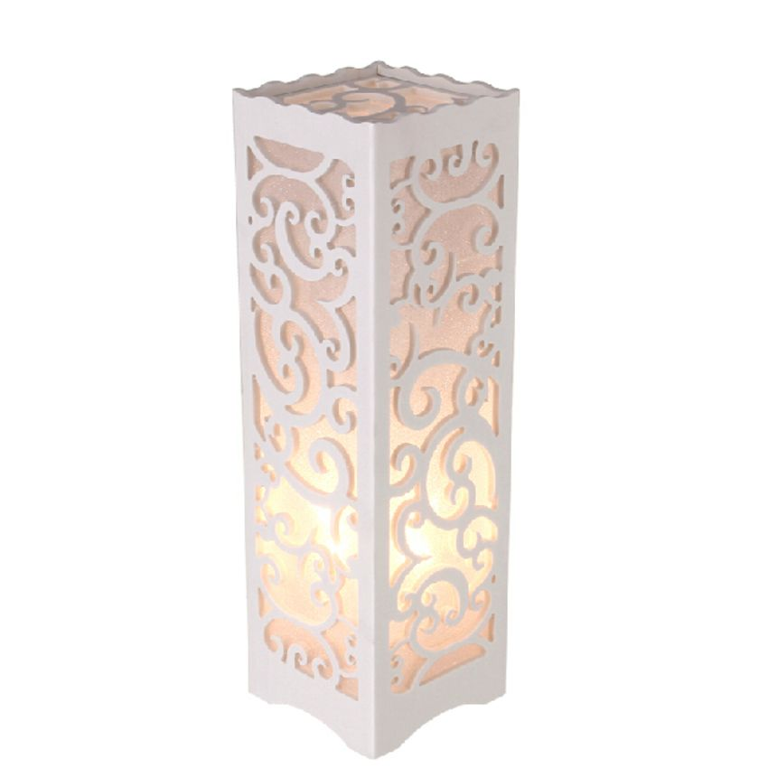 Jf Wpc Hollow Carved Led Desk Lamp White Lazada Malaysia