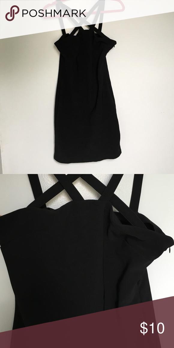 Black strappy dress From forever 21 Dresses Mini