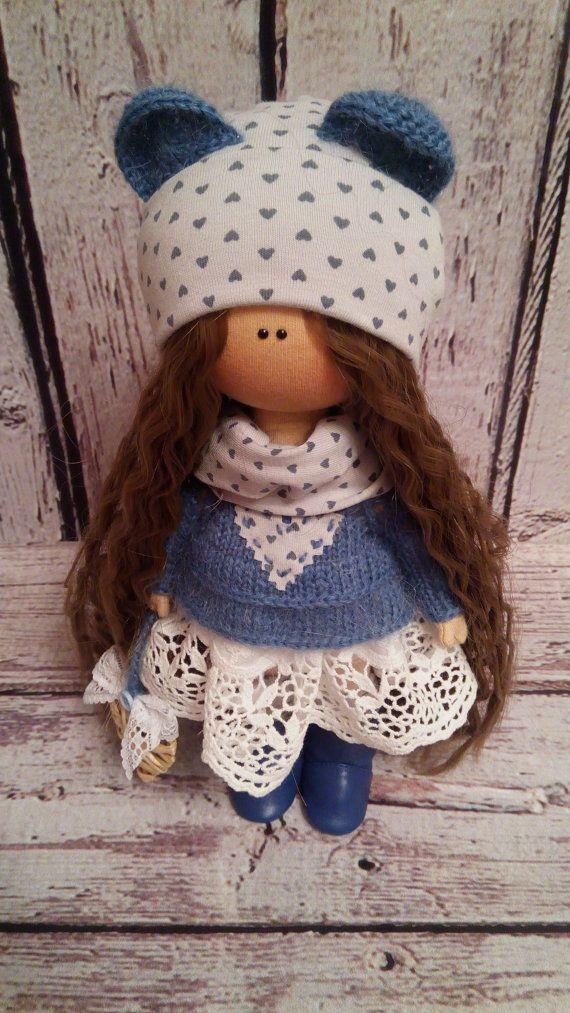 Handmade Doll FREE Shipping Art Doll Poupée Gray Doll Baby Doll ...
