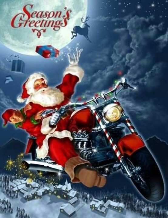 Merry Christmas With Images Motorcycle Christmas Christmas