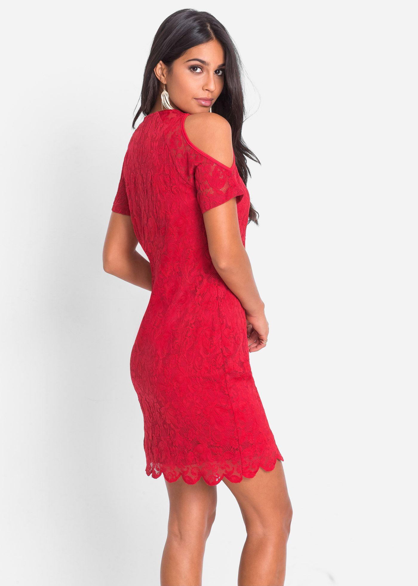 a43a9add45c2 Spitzenkleid mit Cut-Out rot jetzt im Online Shop von bonprix.de ab ...