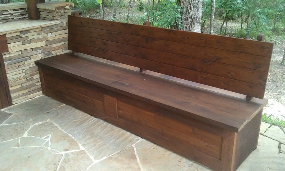 Piano Hinged Bench Seat For Storage Outdoor Kitchens In