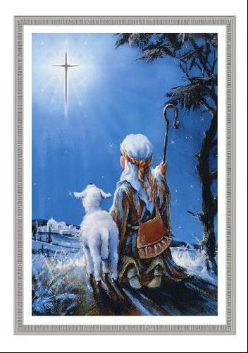 deluxe holiday cards little shepherd boy - National Geographic Christmas Cards