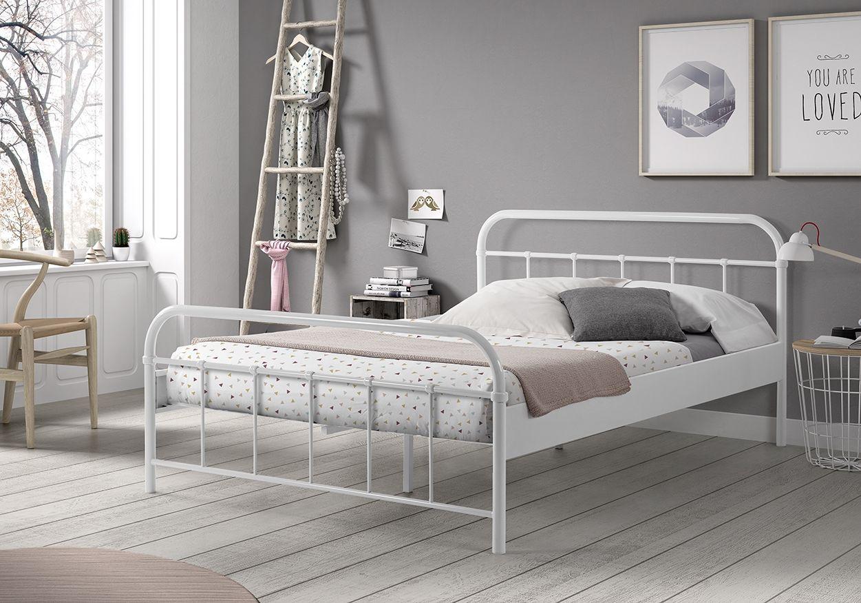 Μεταλλικό κρεβάτι λευκό Boston 140 in 2020 Bed frame
