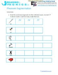 Learn to Read With Phonemic Segmenting Worksheets & Activities   Kid ...