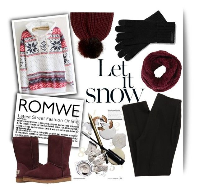 """winter in romwe"" by ninakistyles ❤ liked on Polyvore featuring River Island, UGG Australia, BCBGMAXAZRIA and Coach"