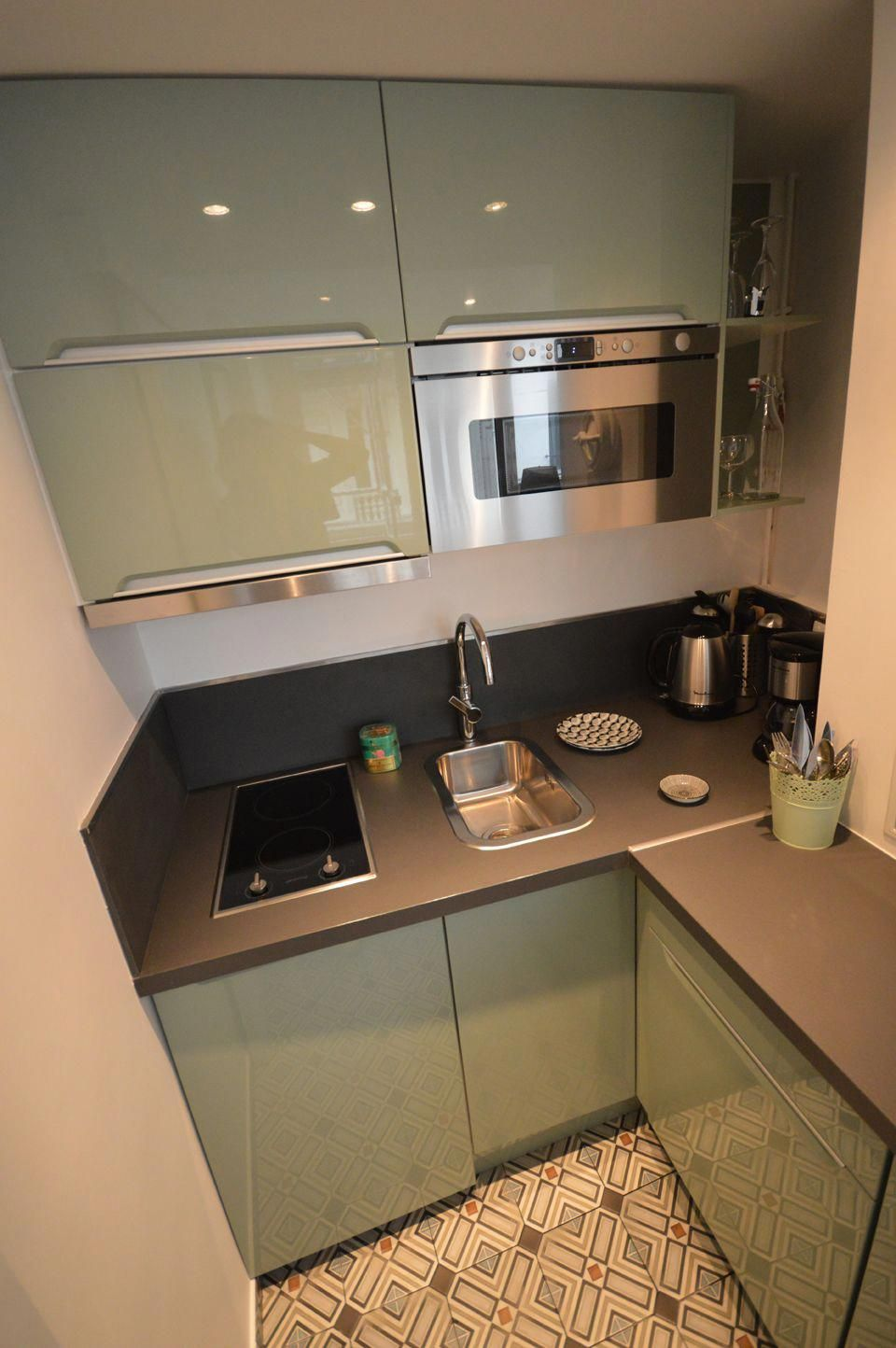 How to build a very small kitchen?   Small kitchen set ...