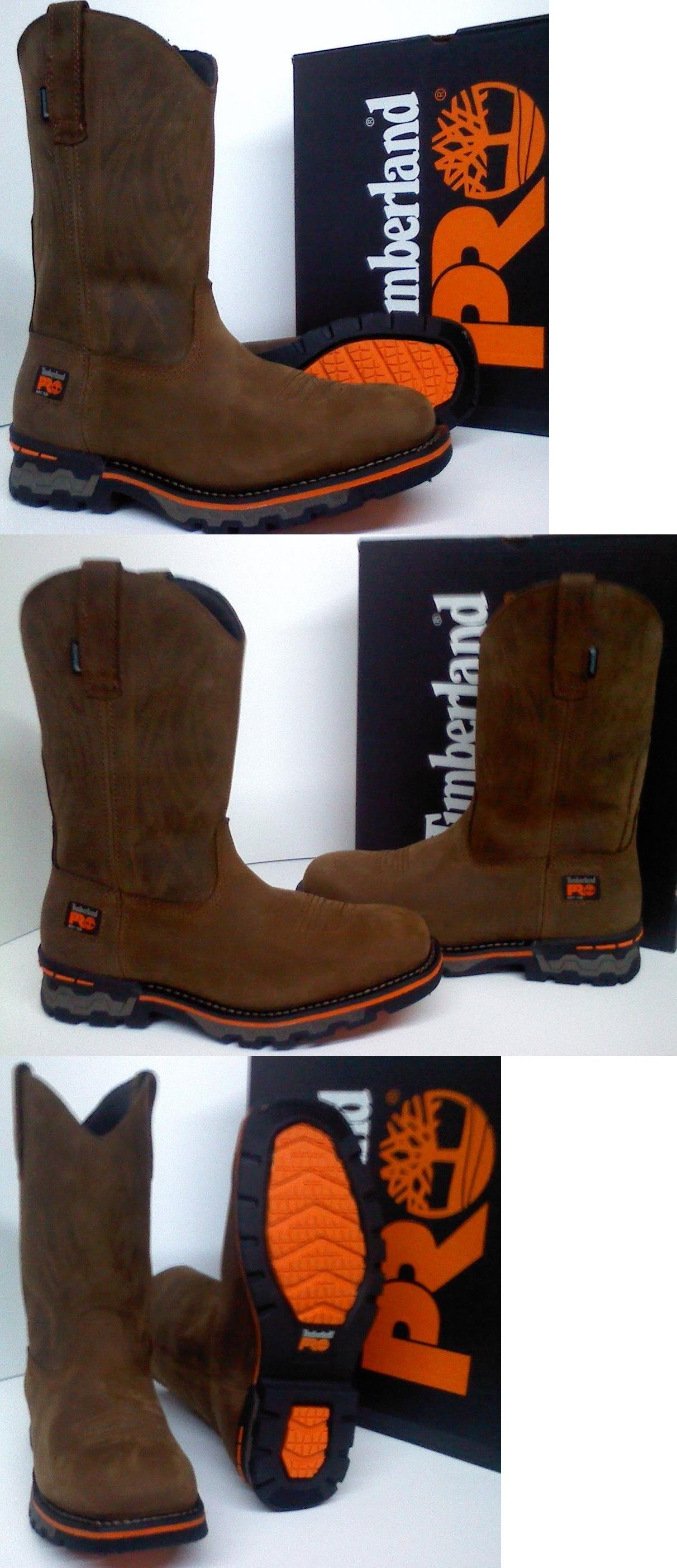 4e07cf9b0bc8 Boots 11498  Timberland Pro Ag Boss Soft Toe Work Boots - Waterproof -  Square Toe