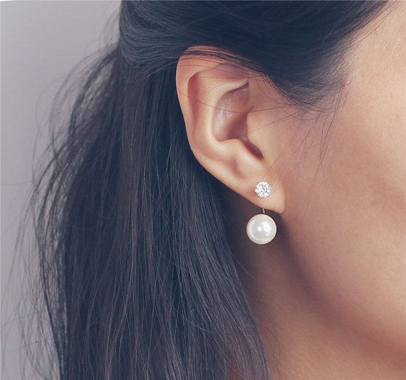 Everyday Pearl Earring 925 Silver Rose Gold Filled