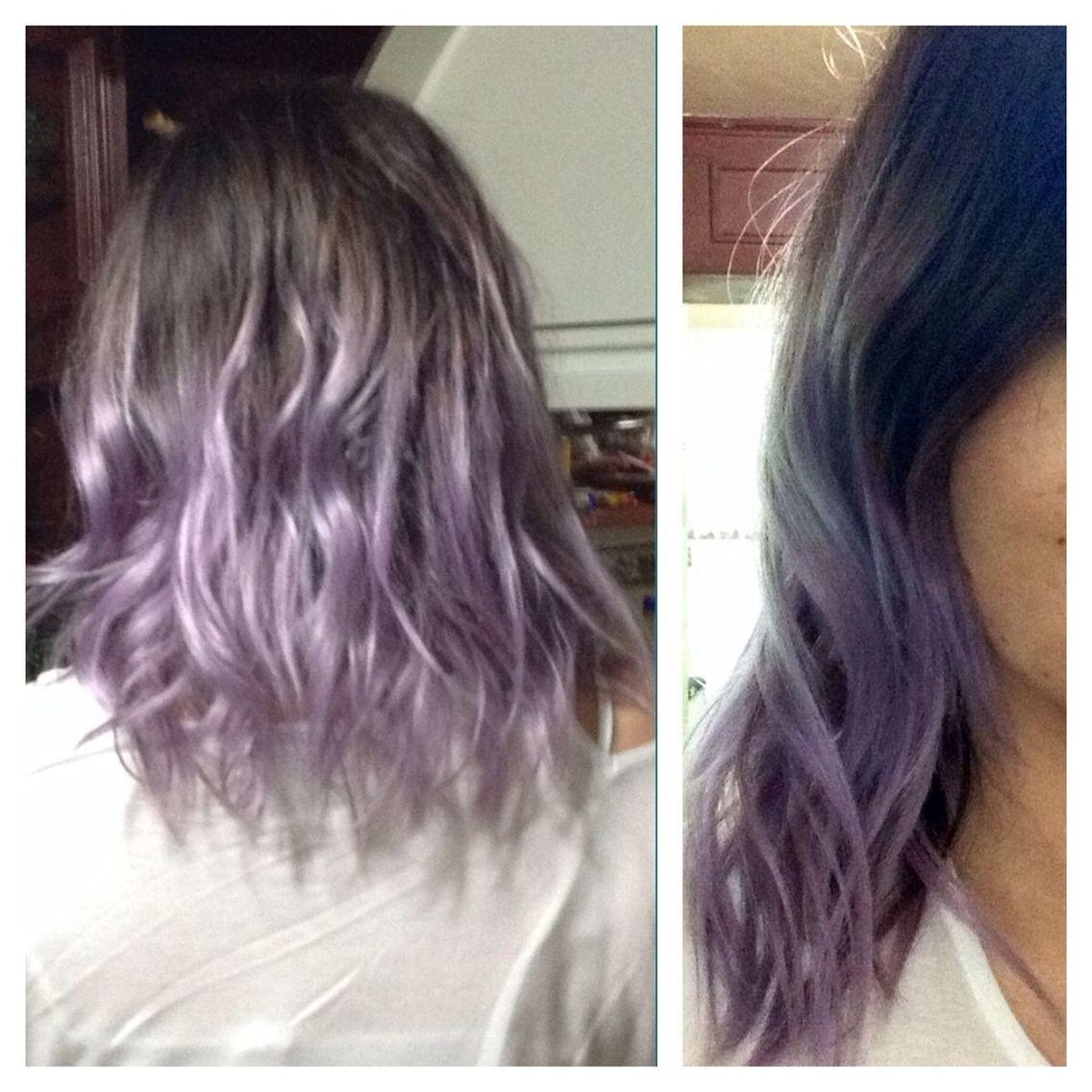 lilac dip dye hair makeup ideas