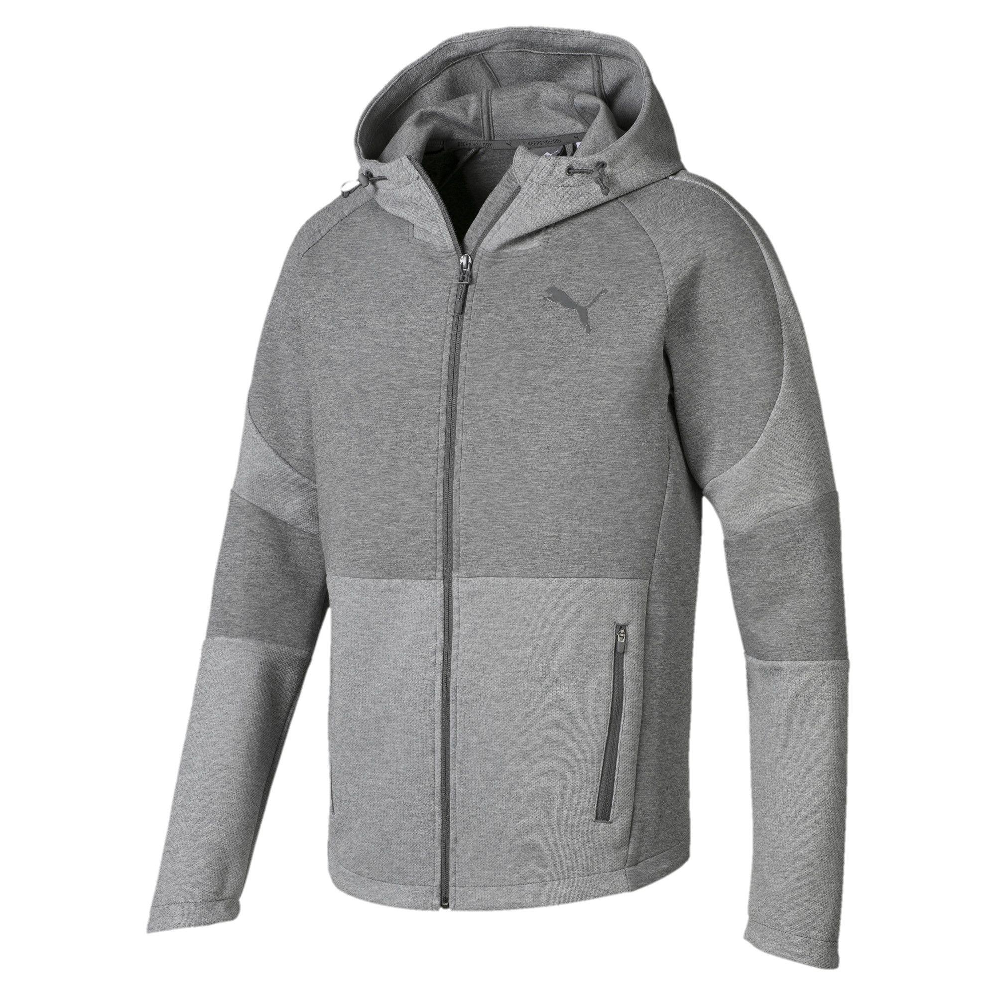 Evostripe Move Hooded Jacket | Medium Gray Heather | PUMA