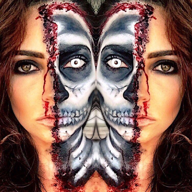skull face halloween makeup - Skull Faces Halloween