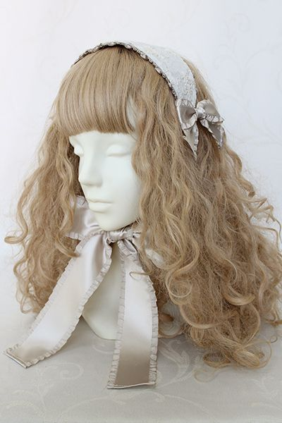 フラワーエンブロイダリーヘッドドレス Victorian maiden