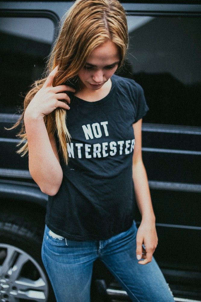 Brandy ♥ Melville | Margie Not Interested Top - Graphics