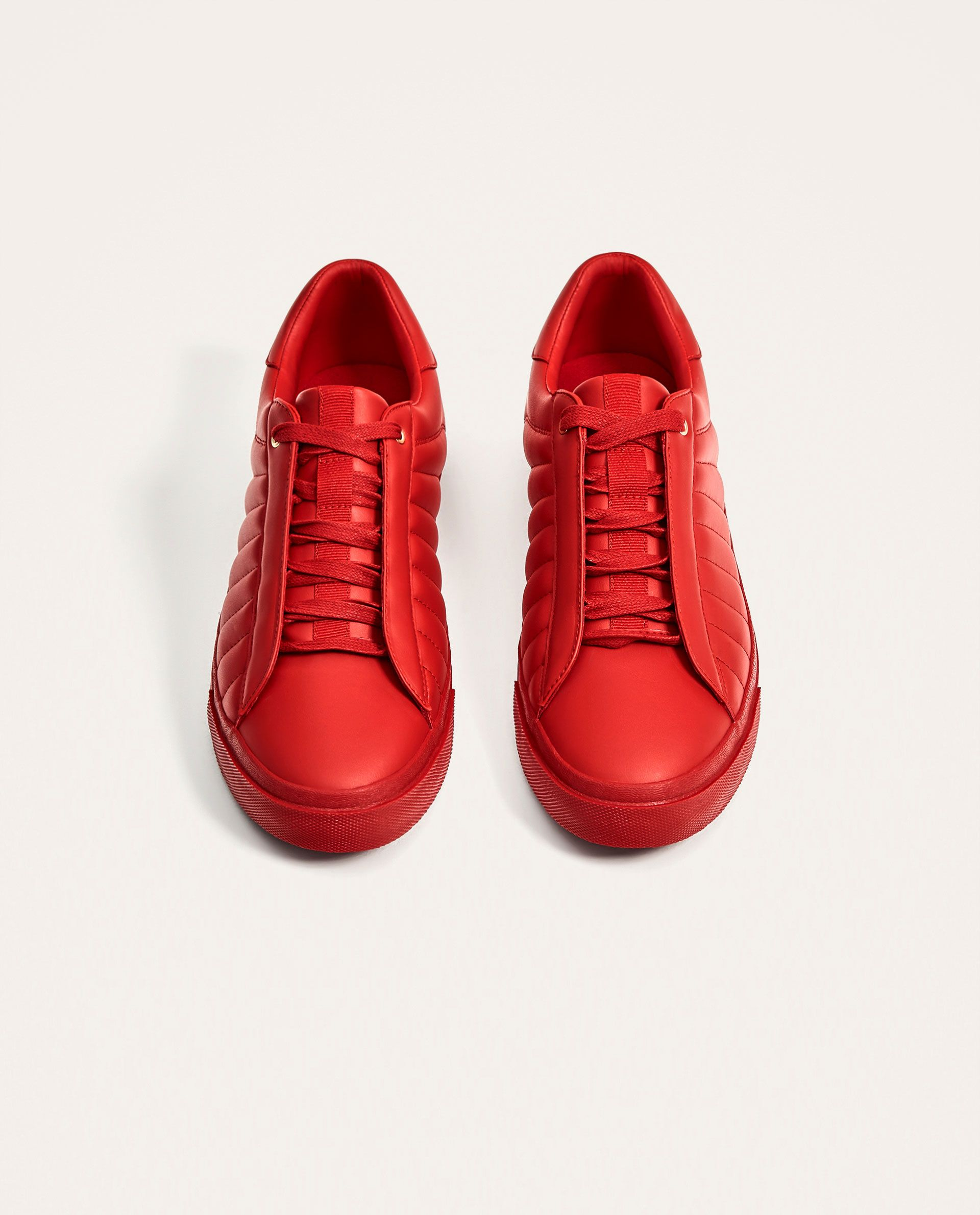 21b31aee4a44 RED QUILTED SNEAKERS from Zara