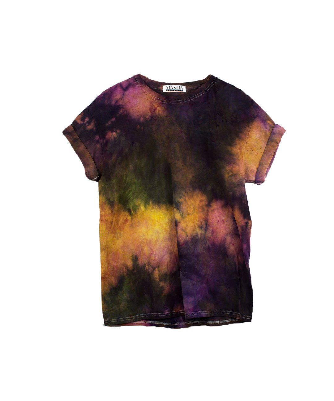 84913b2582 Purple Tie Dye T-shirt Camisa Hippie