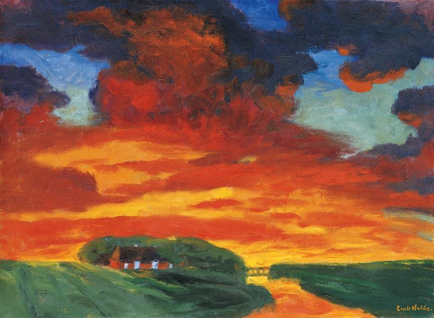 Landschaftsmalerei expressionismus nolde  Emil Nolde in Seebüll: Wie im Farbenrausch   Expressionismus ...