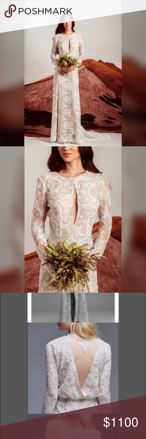 3af1a638b832 NWOT BHLDN stone cold fox lace wedding gown New without tags. Anthropologie Free  People X Stone Cold Fox Chloe Lace Wedding Gown Tag marked to prevent ...