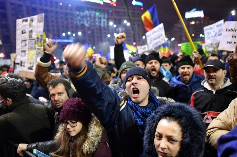 'They are corrupt. We want justice': Half a million people protested against Romania's government over the weekend