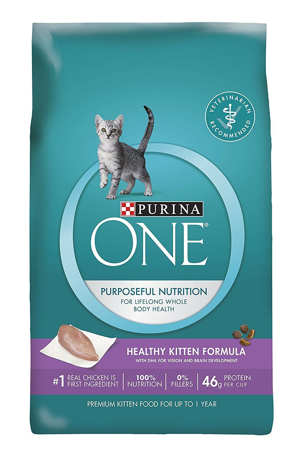 Purina One Healthy Kitten Formula Dry Cat Food Special Cat Product Just For You See It Now Cat Food Kitten Food Dry Cat Food Cat Food