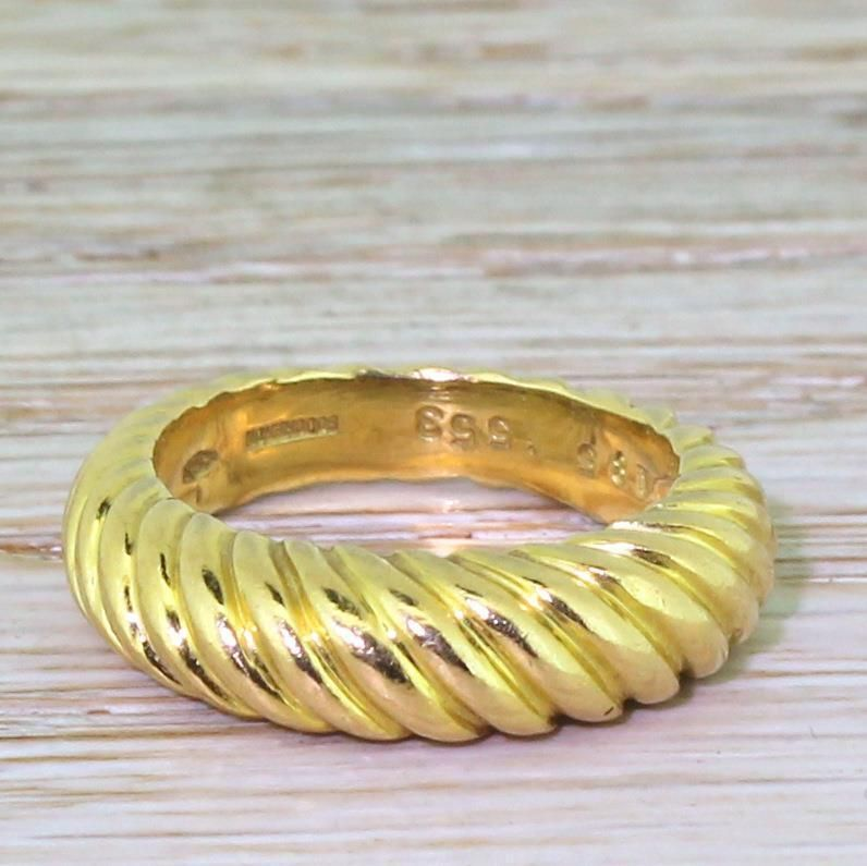 Boucheron vintage grooved band ring 18k gold french c