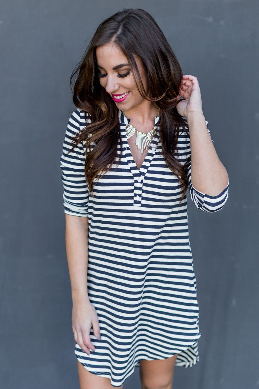 Going Places Tunic in Navy