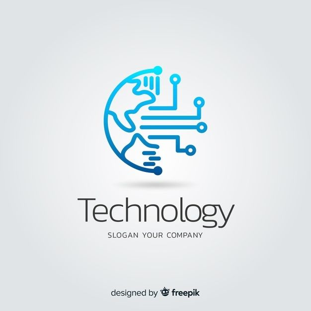 Gradient Abstract Technology Company Log...
