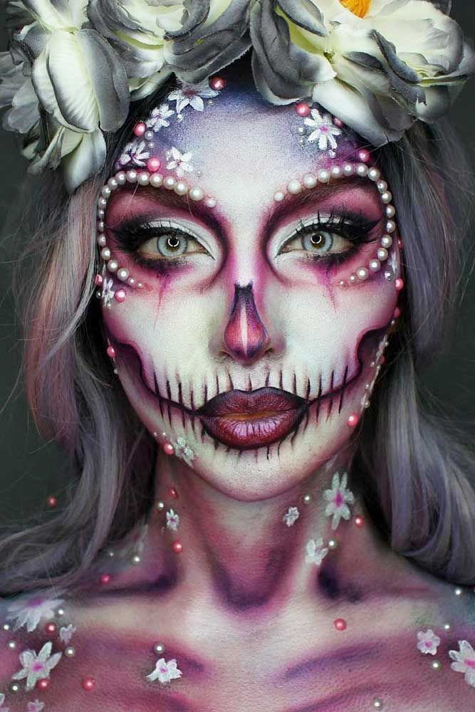 Bekannt Sugar skull makeup is not something that everyone will be able to  TV27
