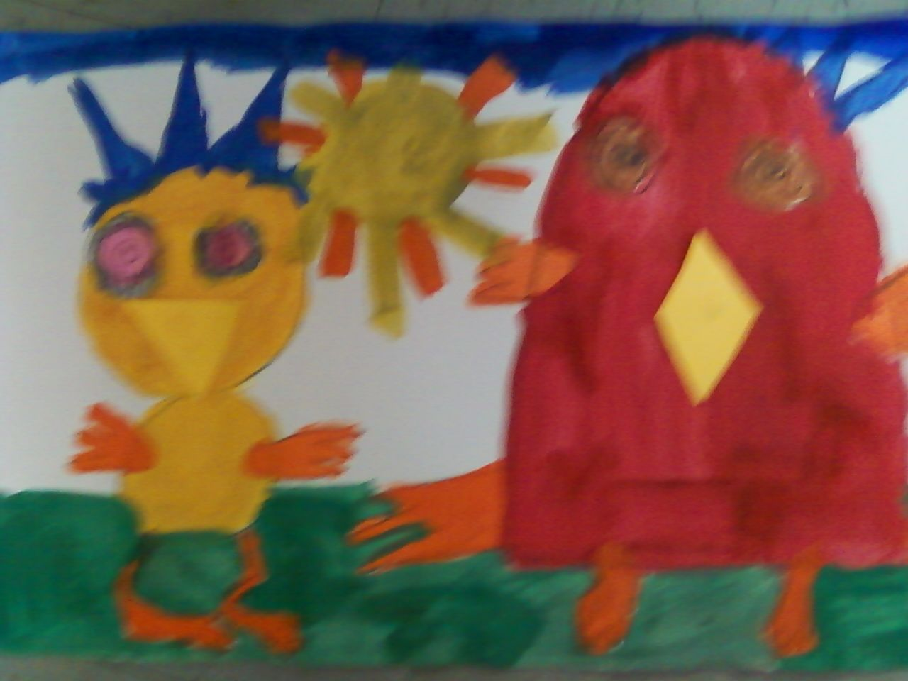 Chicken Little And Henny Penny Ala Eric Carle With