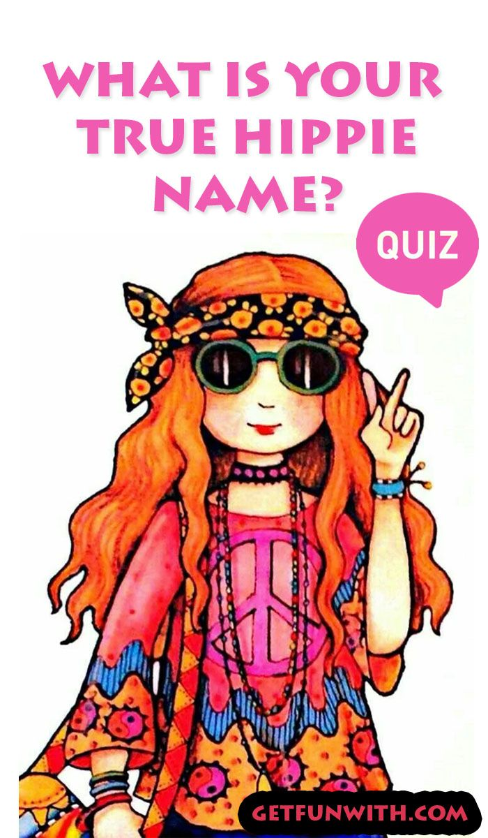 What Is Your True Hippie Name? quiz name quizzes funny