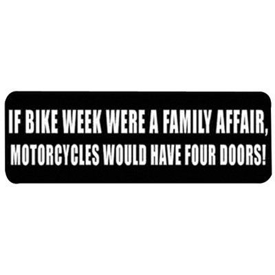 Hot Leathers Helmet Sticker If Bike Week Were A Family Affair