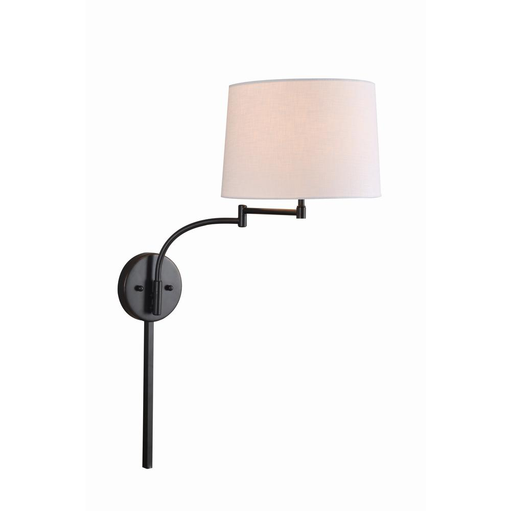 Kenroy Home Seven 1 Light Oil Rubbed Bronze Wall Swing Arm Lamp