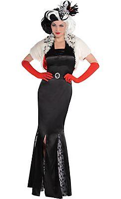 Adult Cruella De Vil Costume Couture - 101 Dalmatians  sc 1 st  Pinterest & Adult Cruella De Vil Costume Couture - 101 Dalmatians | Halloween ...