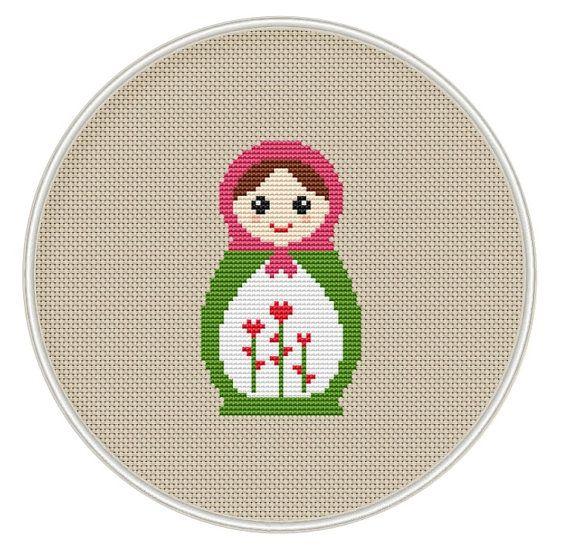 Russian Doll cross stitch pattern Instant par MagicCrossStitch