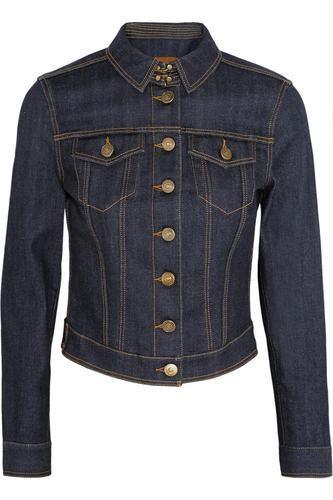 Cropped stretch-denim jacket #croppedjacket #offduty #covetme #burberrybrit