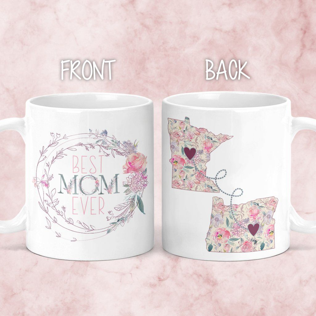 M0478 Gift For Mom State Mug Long Distance Mother And Daughter Mug Mothers Day Gifts Christmas Gift Ideas Mom Birthday Gift Coffee Personalized Handmade Products Home Kitchen